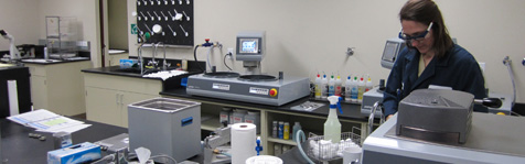 The flagship of our Minerals Testing Center is the new Ore Charac­terization and Process Mineralogy Laboratories.