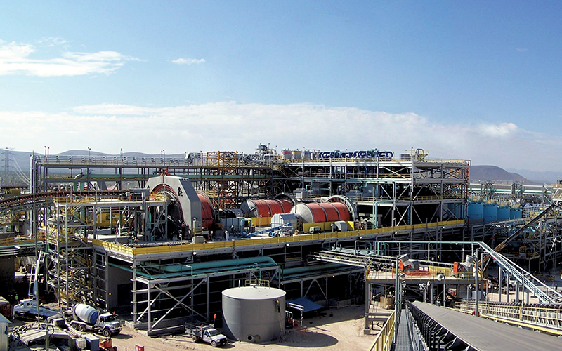 Concentrator plant at Peñasquito where FLSmidth supplied much of the process equipment shown