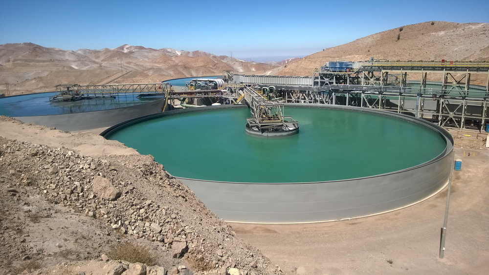 Tailings thickener shown during commissioning at Cerro Verde in Arequipa, Peru