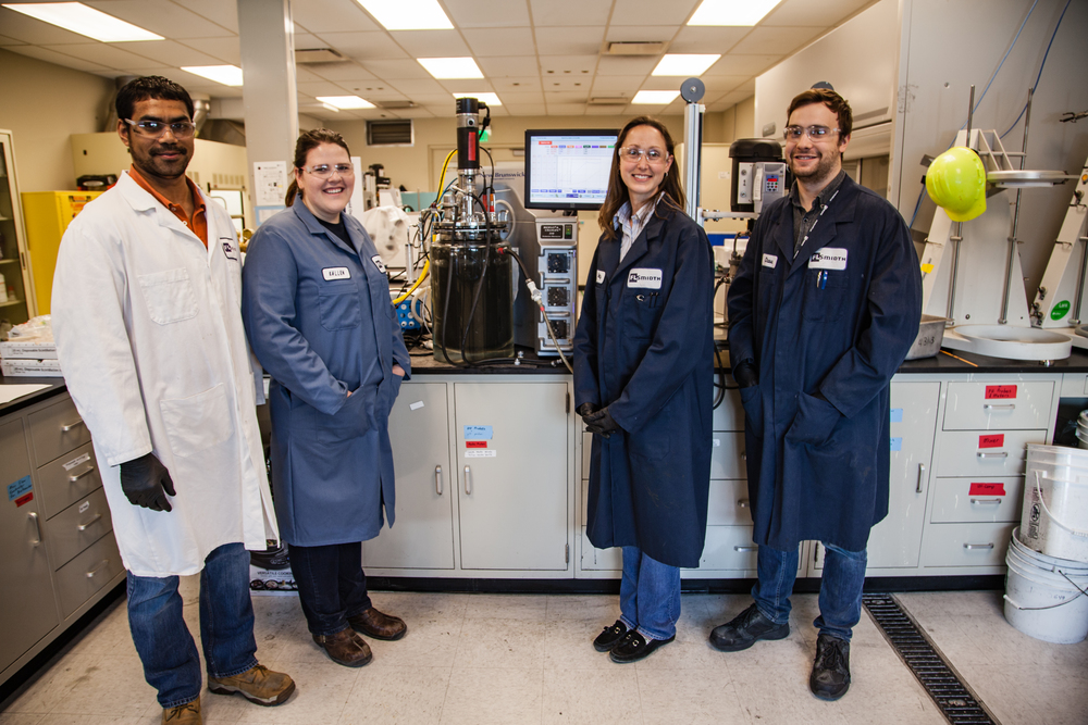 The Minerals laboratory team tests FLSmidth® Rapid Oxidative Leach processes with a strirred media reactor
