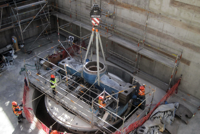 "REMOVAL OF SPIDER FROM FLSMIDTH'S TRAYLOR® 60X113"" GYRATORY CRUSHER AT THE TOQUEPALA MINE SITE"