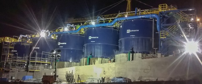 THE FIVE FLSMIDTH 300 CUBIC METER CELLS ARE INSTALLED WITH NEXTSTEP™ ROTOR/STATORS FOR OPTIMAL EFFICIENCY