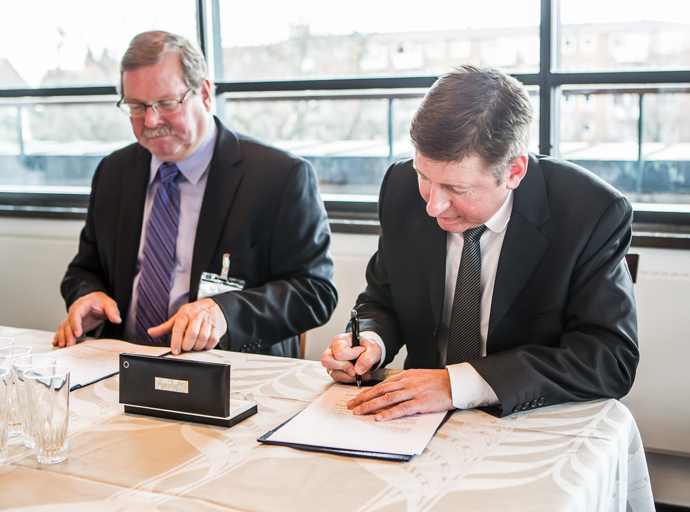SIGNING OF THE AGREEMENT BETWEEN GE AND FLSMIDTH