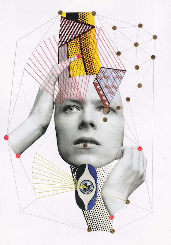 "FEHMI BAUMBACH // ""david bowie"" // Collage on paper // 2016"