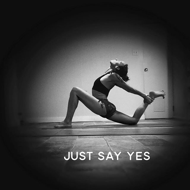 To love, to opportunity, to compassion, to joy, to forgiveness, to creativity, to spending time in nature, to spending time alone, to learning something new every day, to crying, to laughing, (you get the picture...). Just  Say  Yes #yoga #sayyes #justsayyes #yogapractice #yogainspiration #yogini #befearless #fearlessyoga #neverstopexploring #creativity #authenticity #exploration #mke #mkeyoga #mketribe #mkemycity
