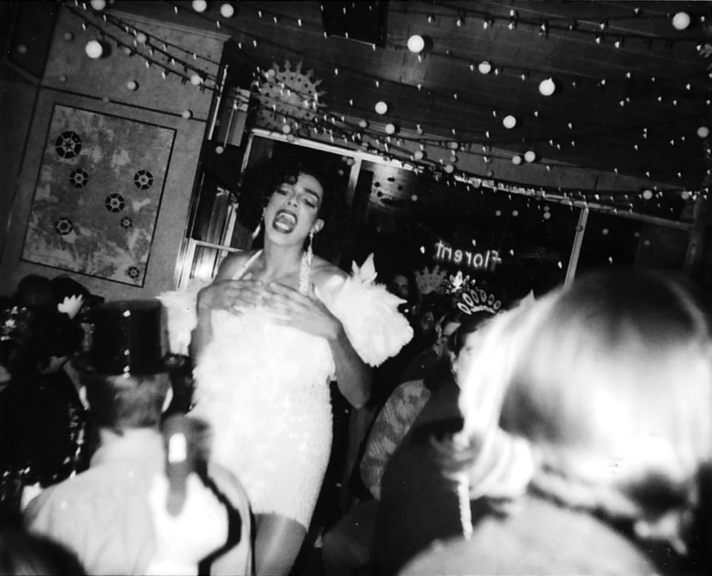 Josie performs, 1993, New Year's Eve. Photo from the archives of Florent Morellet.