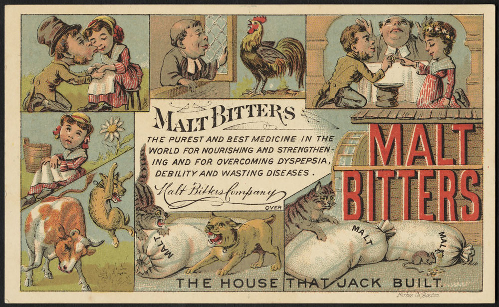 Bitters for health, 1870's
