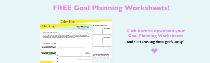 free goal planning worksheets