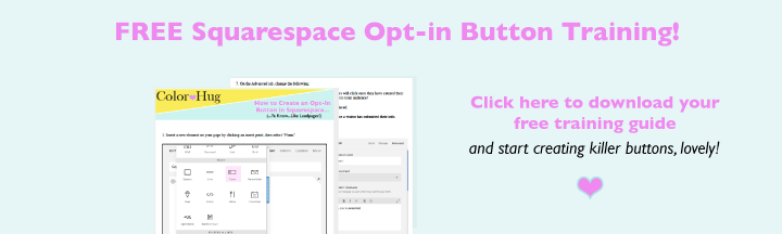 Squarespace Opt-In Button Leadpages