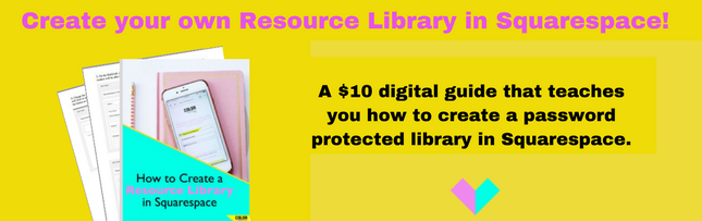 Squarespace Resource Library Training