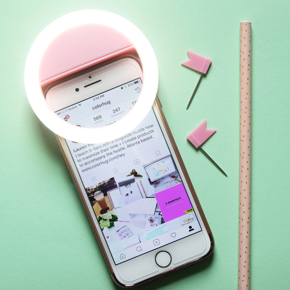 Rechargeable Selfie Ring Light -