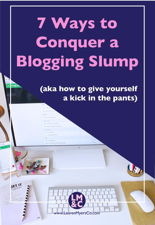 Blogging Slump motivation inspiration blog