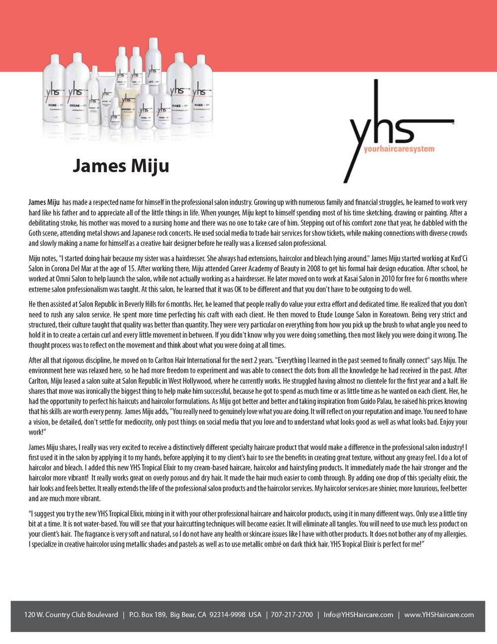 James Miju Testimonial – YHS Haircare