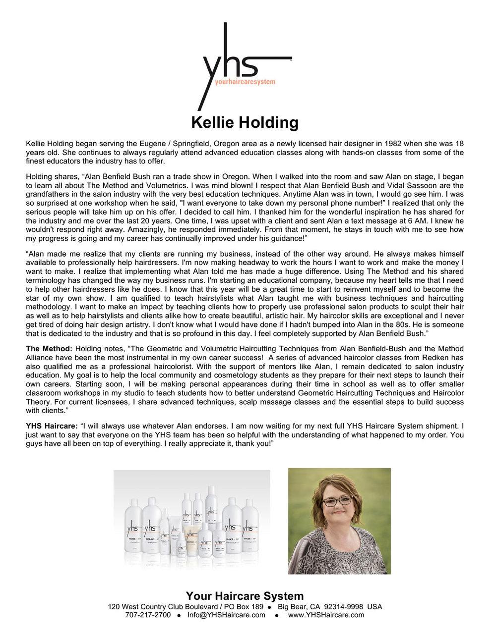 Kellie Holding Testimonial – YHS Haircare