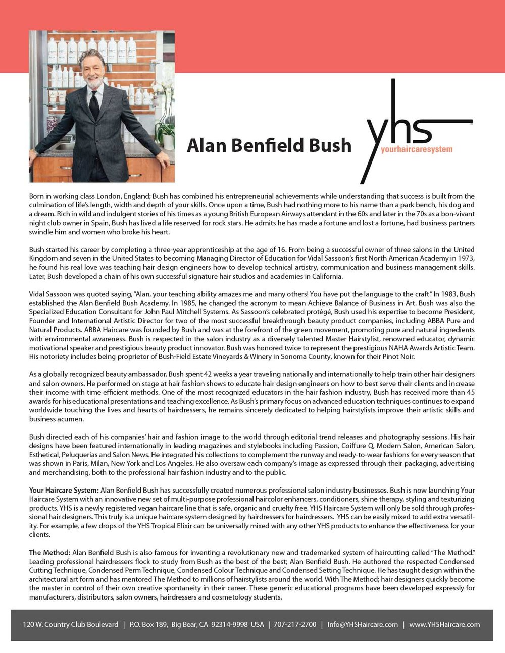 Alan Benfield Bush – YHS Bio