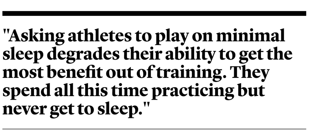 The Doctor Who Coaches Athletes to Sleep
