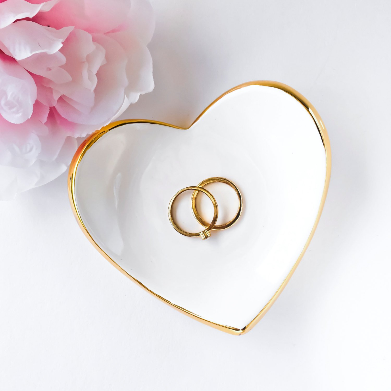 Ceramic Heart Ring Dish