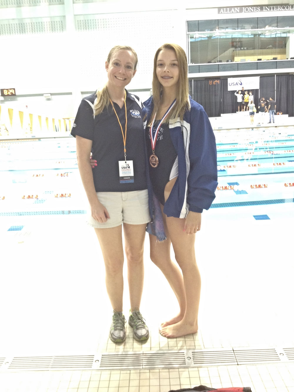 Sarah and Coach Michelle at 2014 Age Group Nationals