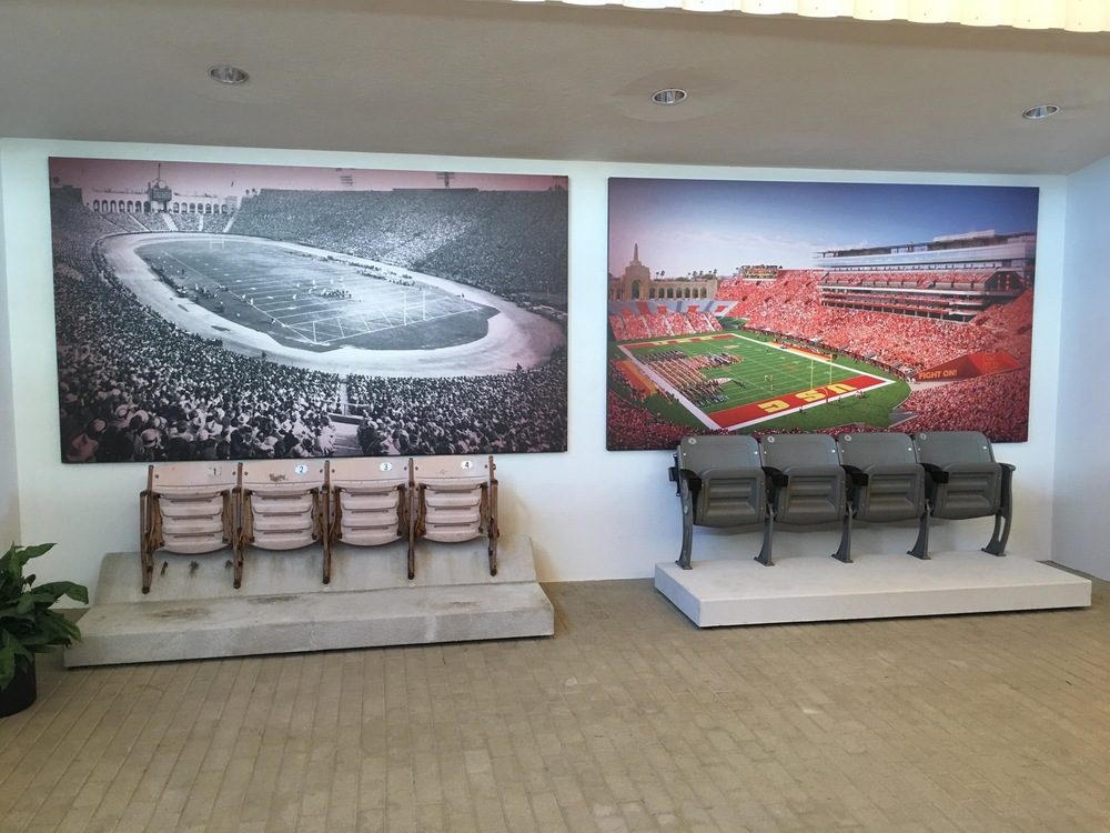 USC Old vs. New Stadium Seating Display