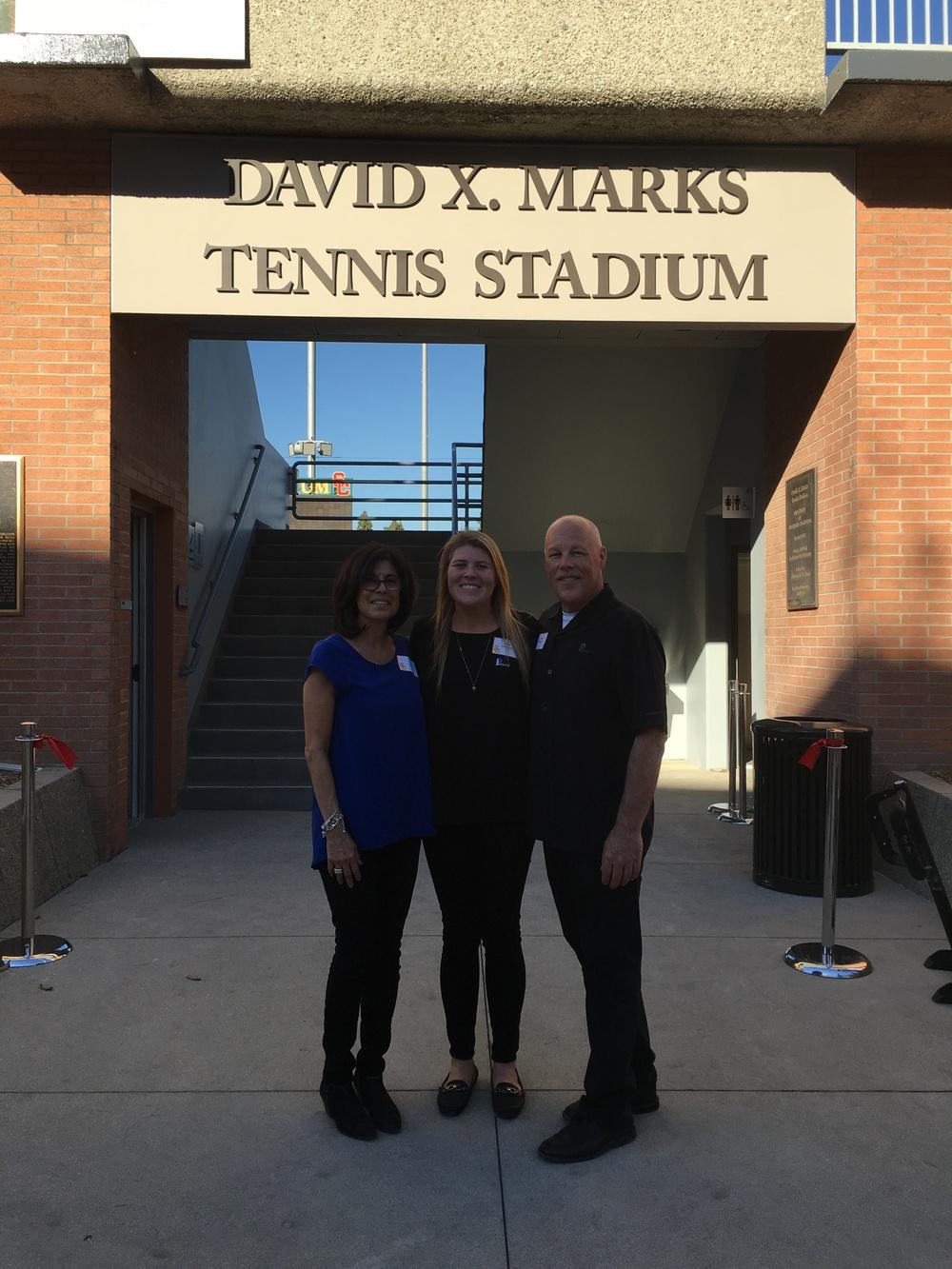 USC Tennis Stadium 3D Signage