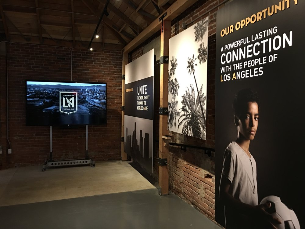 LAFC Experience Center - Storyboard Graphic Displays