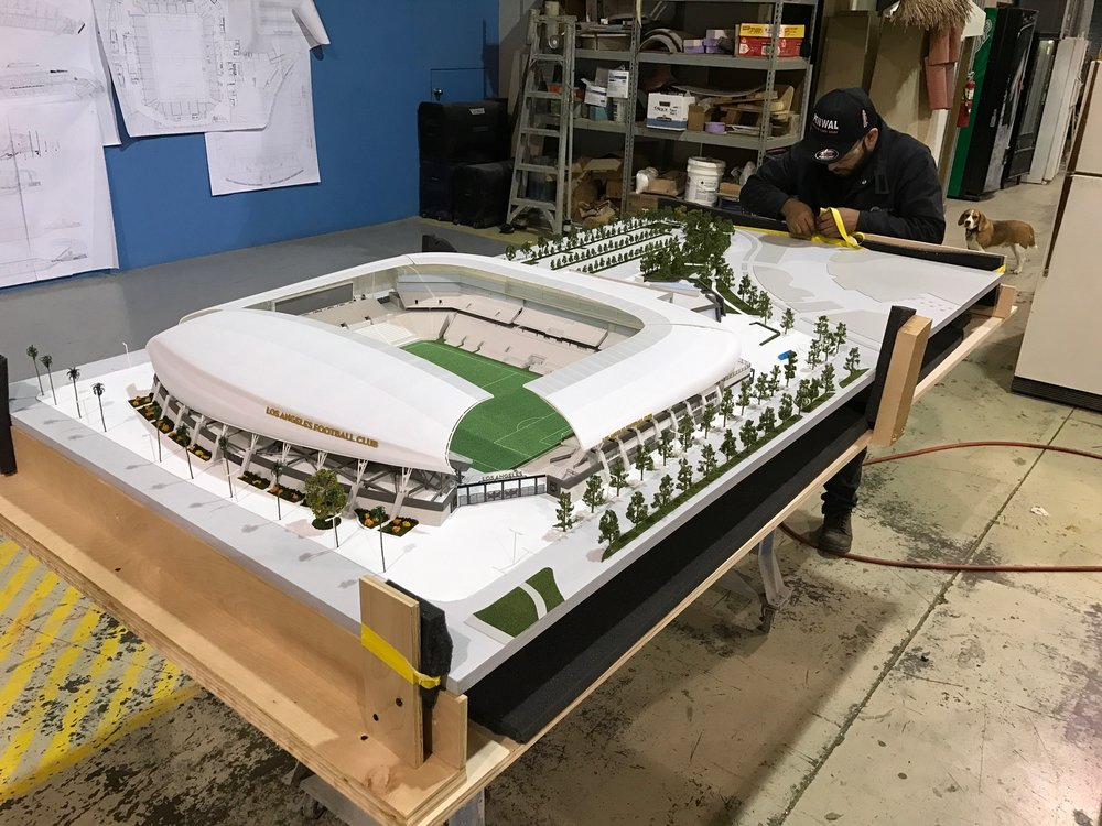 LAFC Stadium - Scaled Architectural Model (in the works)