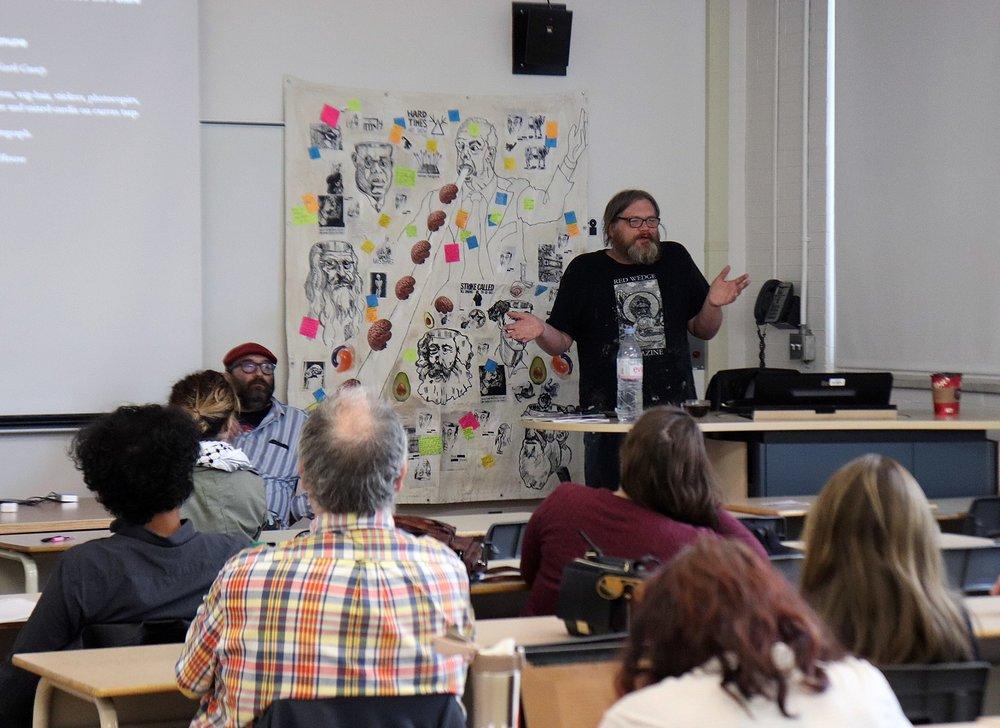 Adam Turl speaking at Historical Materialism Montreal (2018)