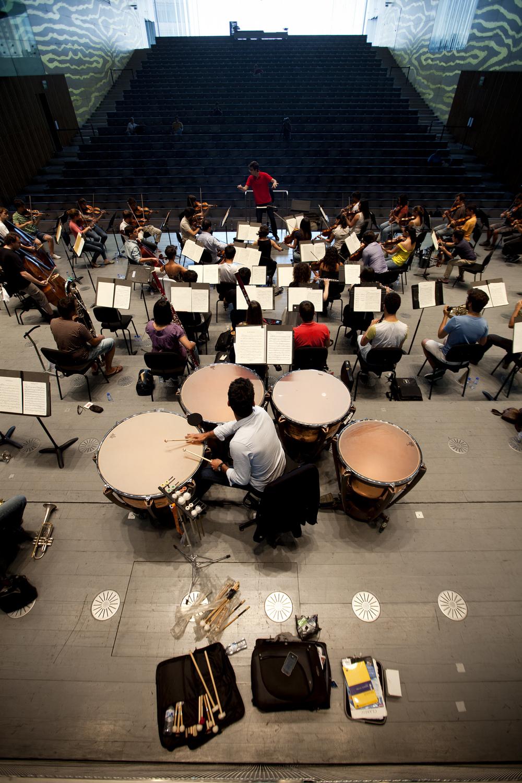 Orquestra XXI em ensaio na Casa da Música (c) Joana Bourgard/PÚBLICO