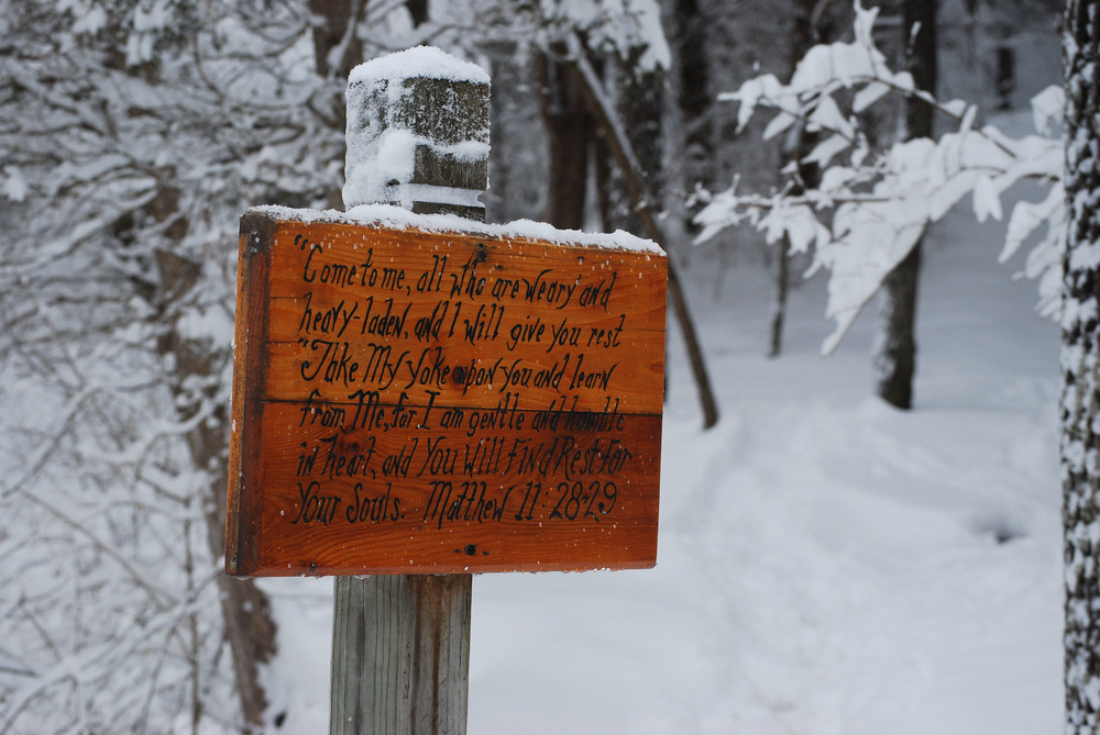 We have several miles of marked prayer trails around our property