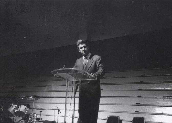 Steve preaching in 1988