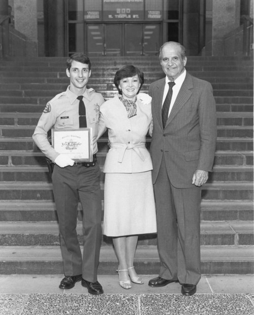 Steve's graduation from the Sheriff's Academy