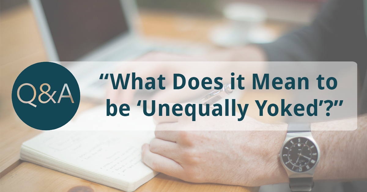Unequally yoked meaning