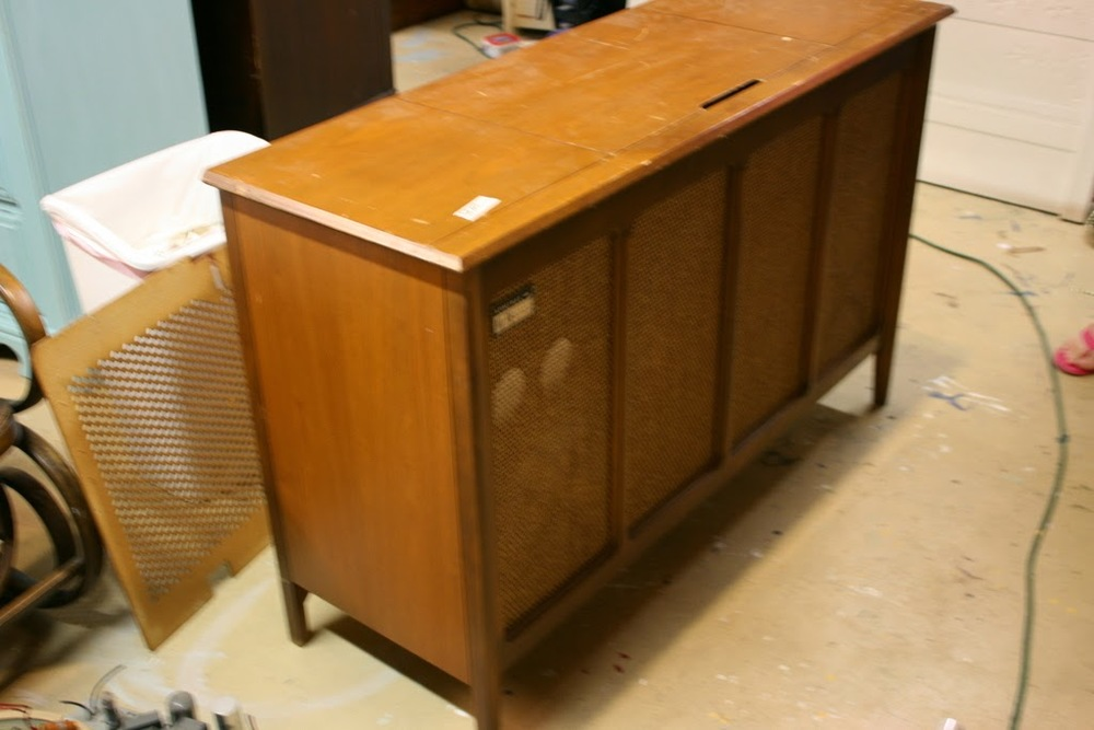 It Had A Record Player In The Top, A Radio And Giant Speakers In The Bottom  Cabinet. It Was The Perfect Dimensions For An Entertainment Center.