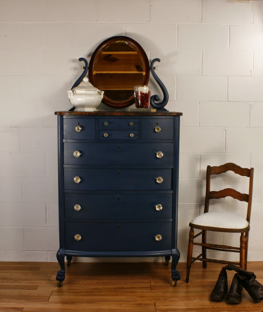 blue antique furniture. 105 Antique Navy Blue Chest Of Drawers Furniture
