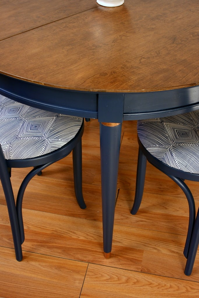 This Table Had The Brass Bands Around The Legs, And I Thought They Were  Fine Brass, But So Much Better COPPER! I Applied Rub Nu0027 Buff In Autumn Gold  (more ...