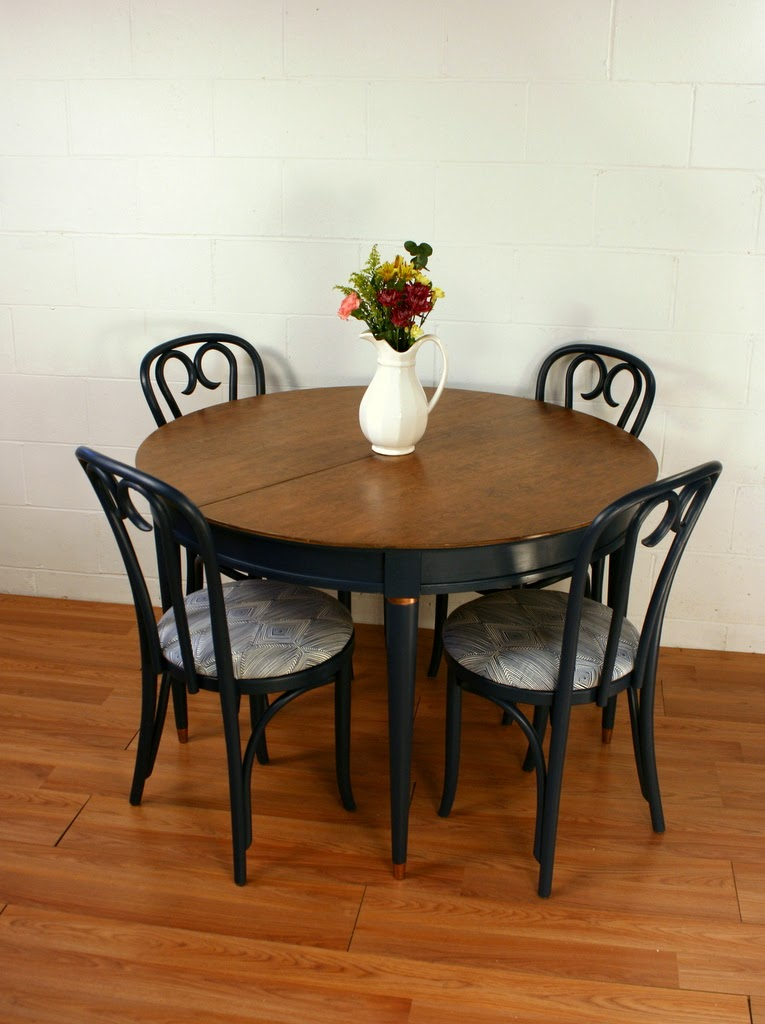 118 Navy Blue Dining Table U0026 Chairs