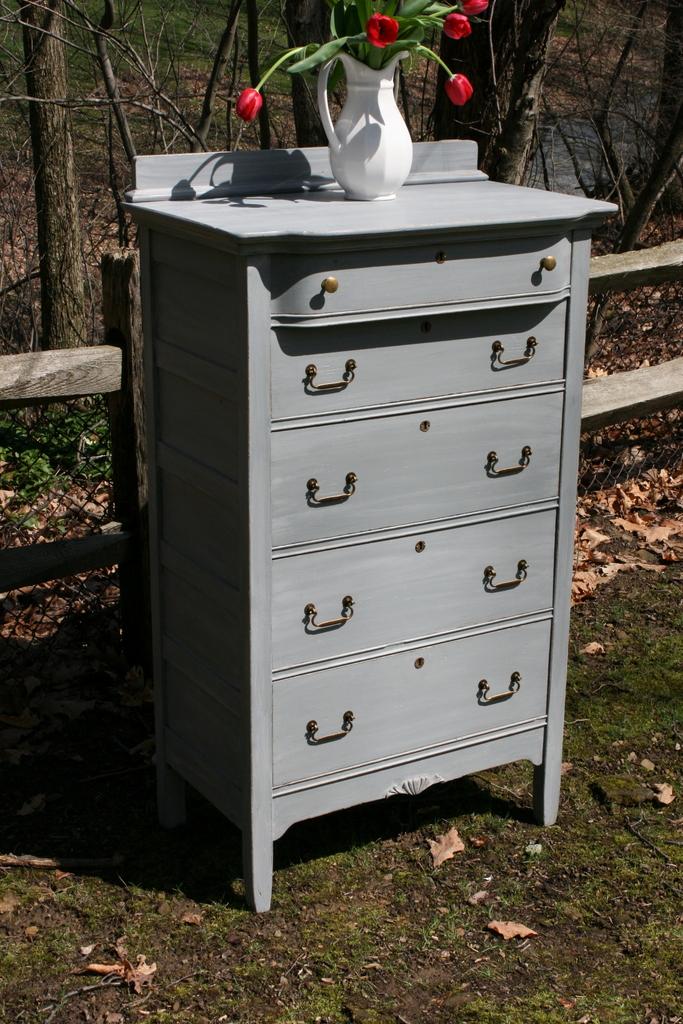 Gray Washed Dresser