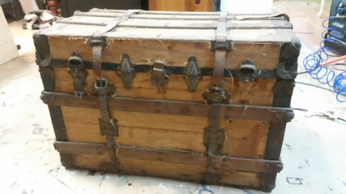 Steamer Trunk Before