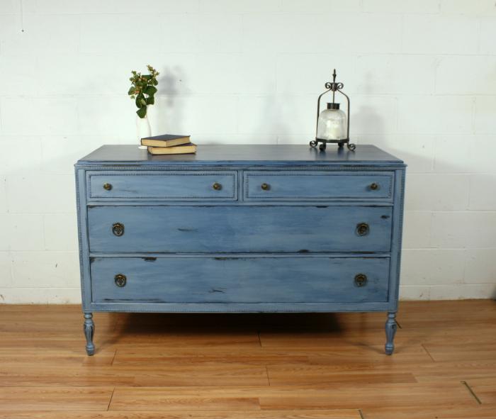 Stillwater Blue Colorwashed Dresser