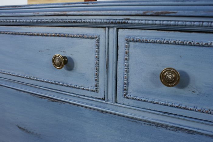 This Dresser Was Painted In General Finishes New Chalk Paint In Stillwater  Blue. I Sealed It With Flat Out Flat Topcoat. Then Watered Down Coastal  Blue Milk ...