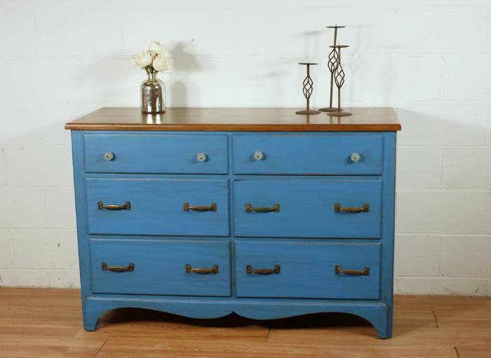 Vintage Corinth Blue Dresser