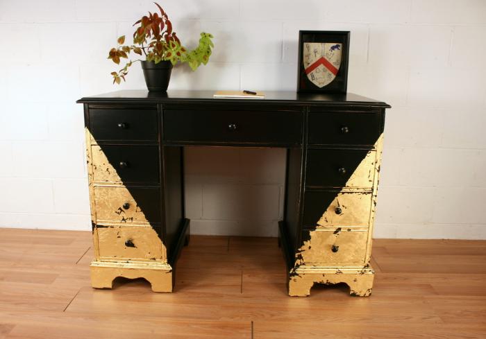 Gold & Black Desk