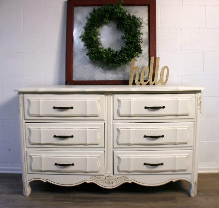 - Antique White Dresser Before And After — Roots & Wings Furniture LLC