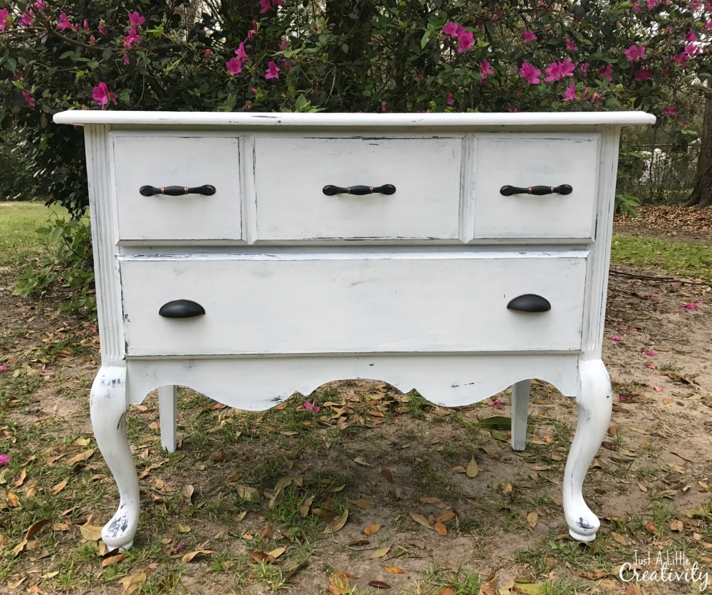 http://www.justalittlecreativity.com/2017/03/farmhouse-beauty-from-ugly-dresser.html