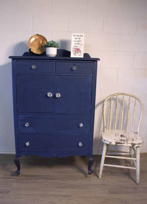 coastal blue colorwashed dresser