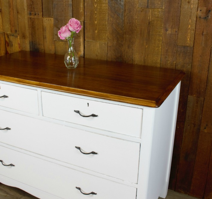 Snow White Antique Dresser