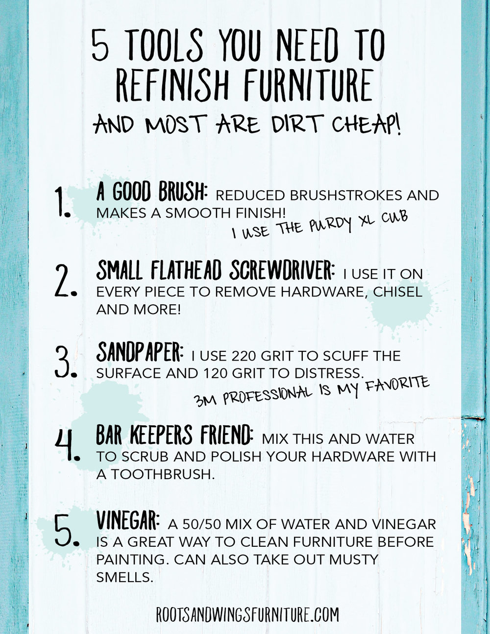 5 tools to refinish furniture