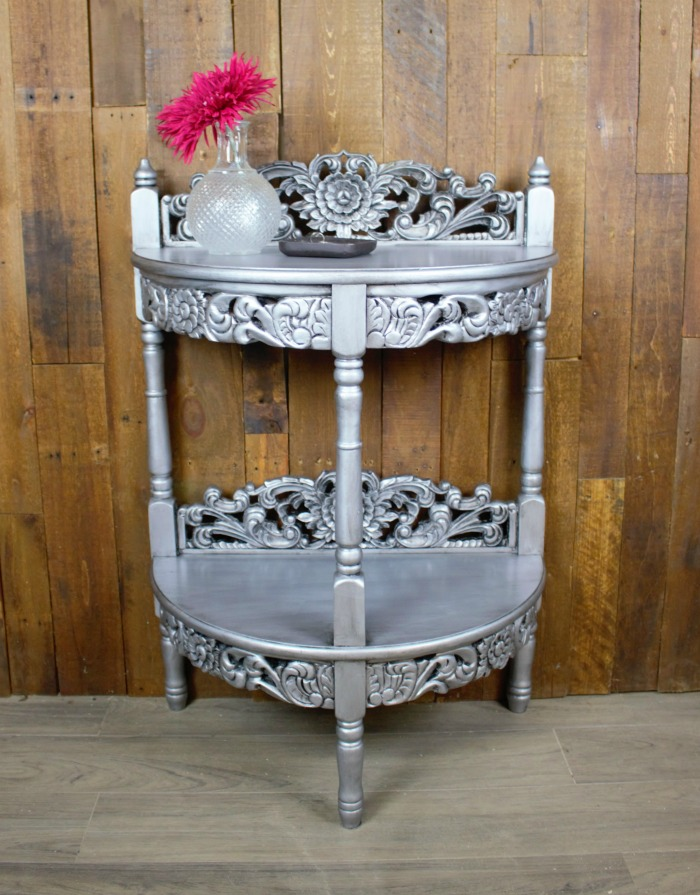 http://www.rootsandwingsfurniture.com/blog/metallictable