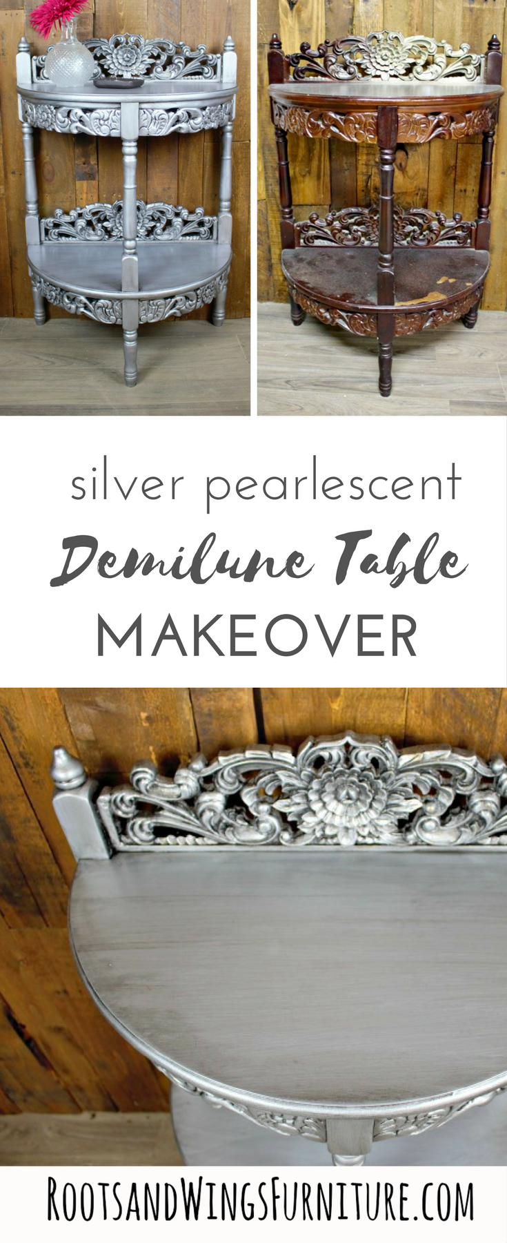 silver demuline table pin