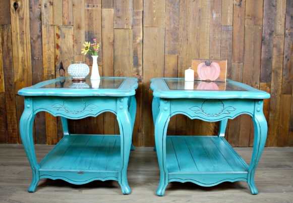 Patina Green Side Tables